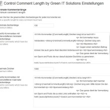 Control Comment Length Backend 1