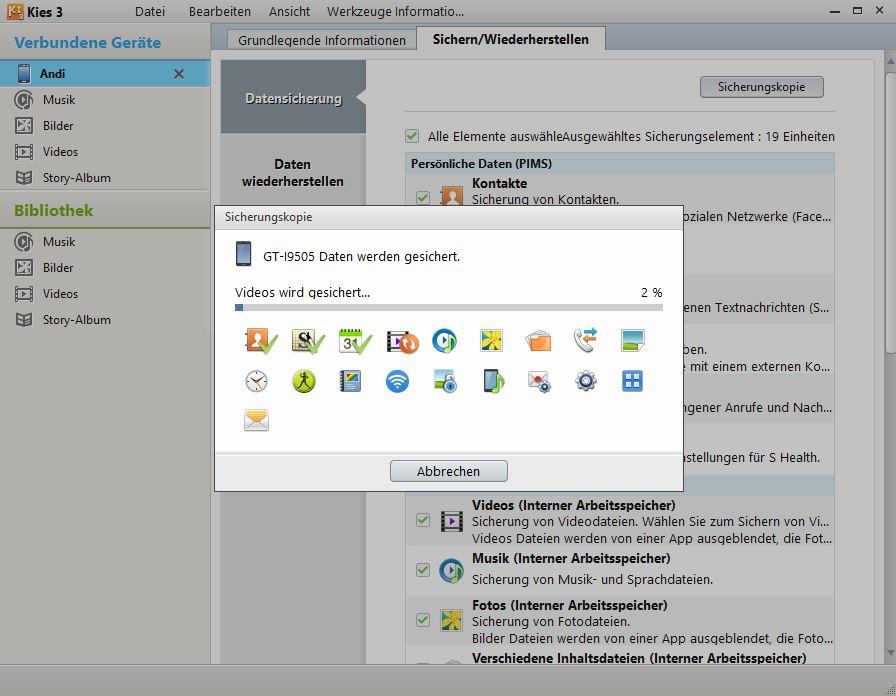 Samsung Galaxy S5 mit Outlook synchronisieren